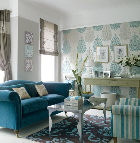 Living Room Ideas Teal theme Inspiration Going Baroque House Furniture