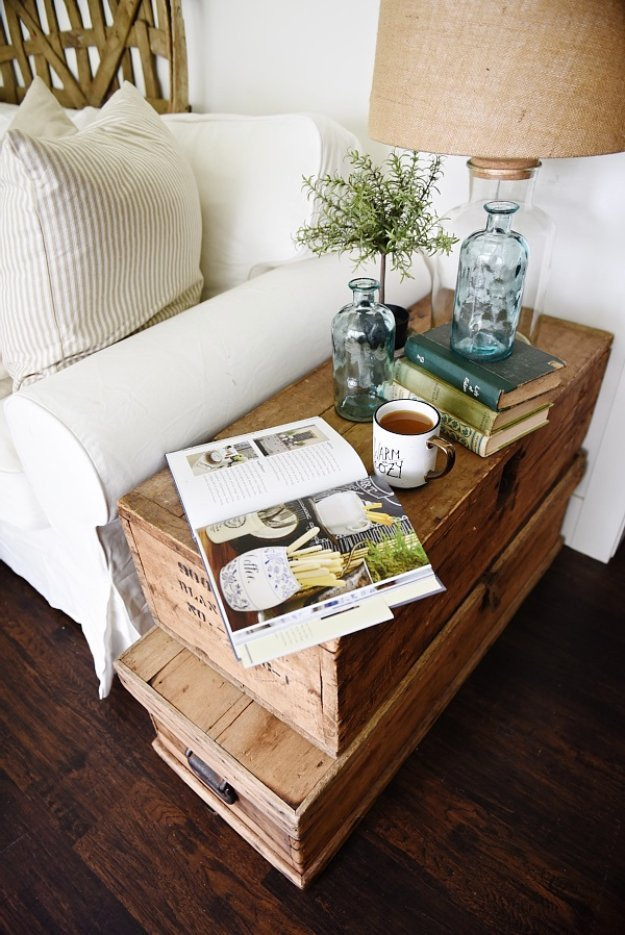 Living Room Side Table Decor 31 Diy End Tables