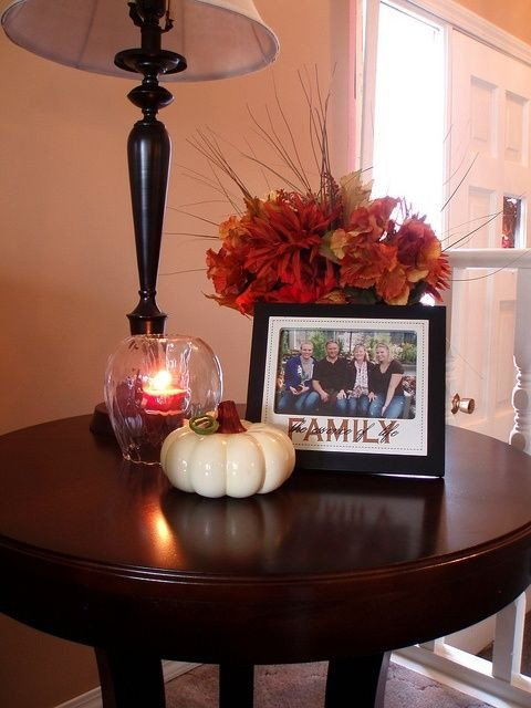 Living Room Side Table Decor 43 Fall Coffee Table Décor Ideas Digsdigs