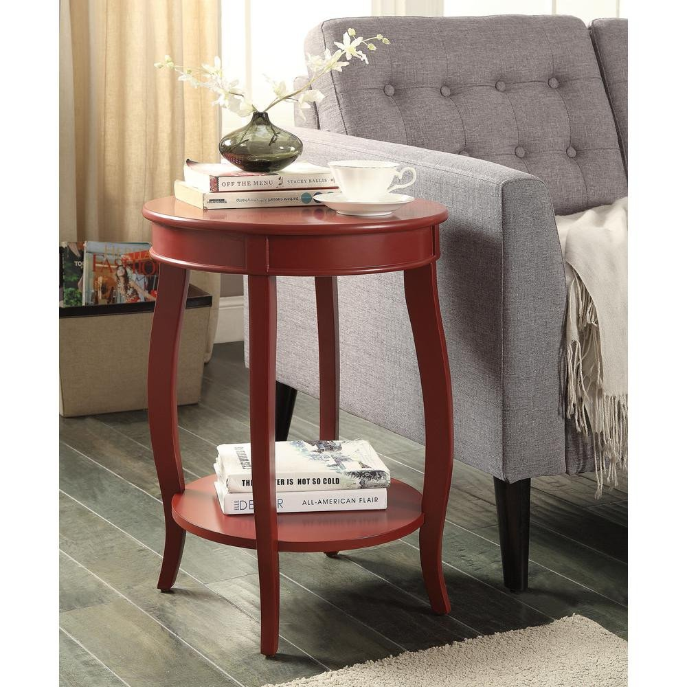 Living Room Side Table Decor Red Storage Side Table End Nightstand Furniture Living
