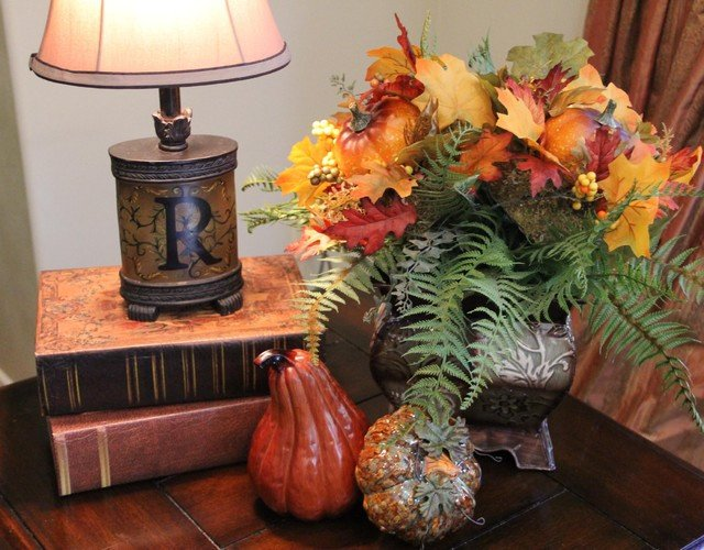 Living Room Side Table Decor Side Table Living Room Decorated for Fall