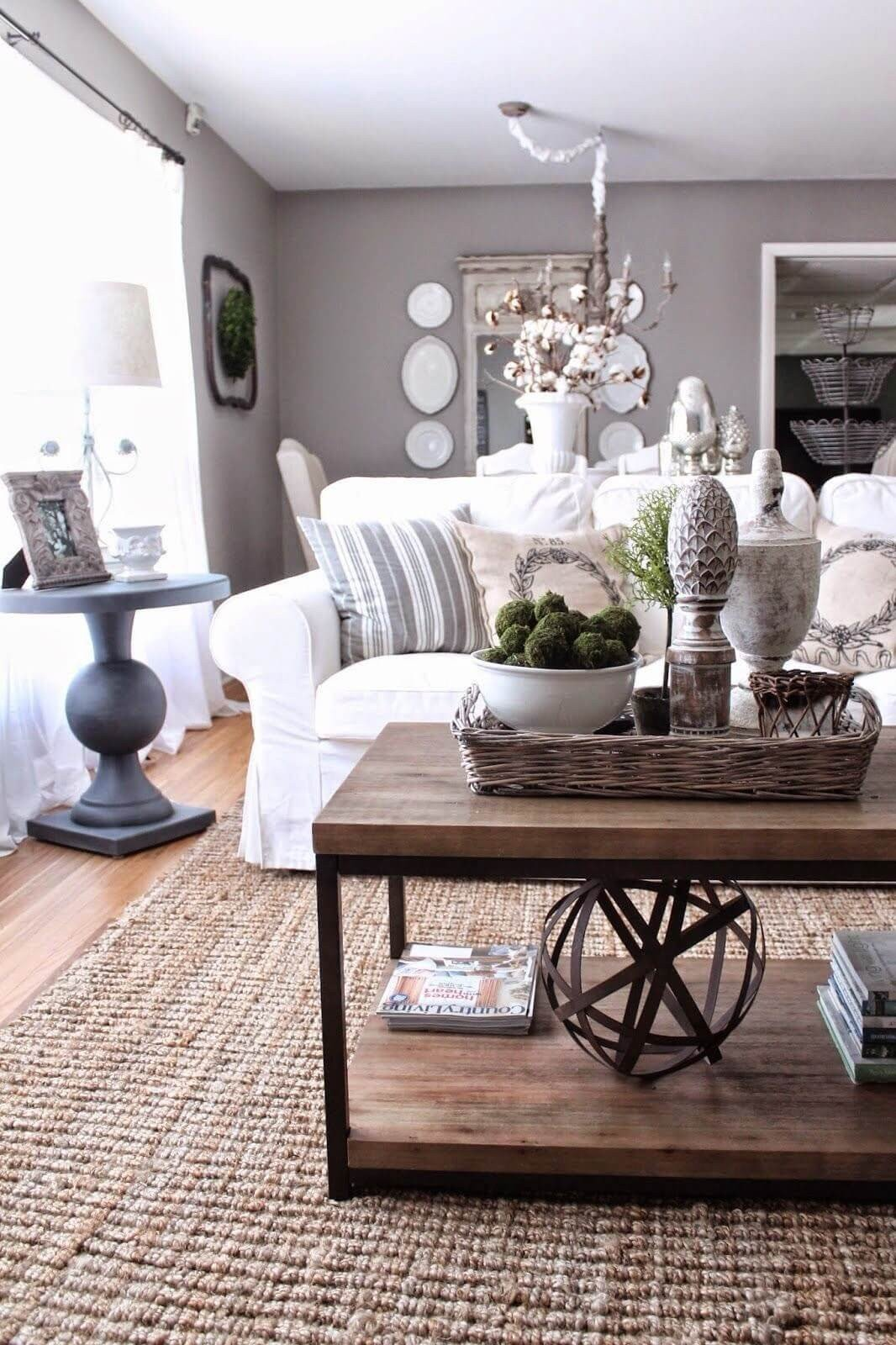Living Room Table Decor Ideas 37 Best Coffee Table Decorating Ideas and Designs for 2019