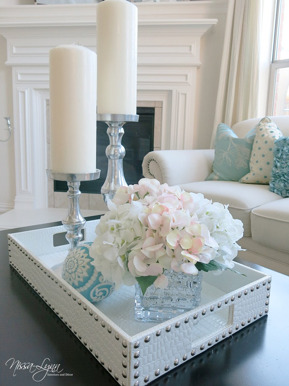 Living Room Table Decor Ideas Nissa Lynn Interiors Holiday Coffee Table Decor
