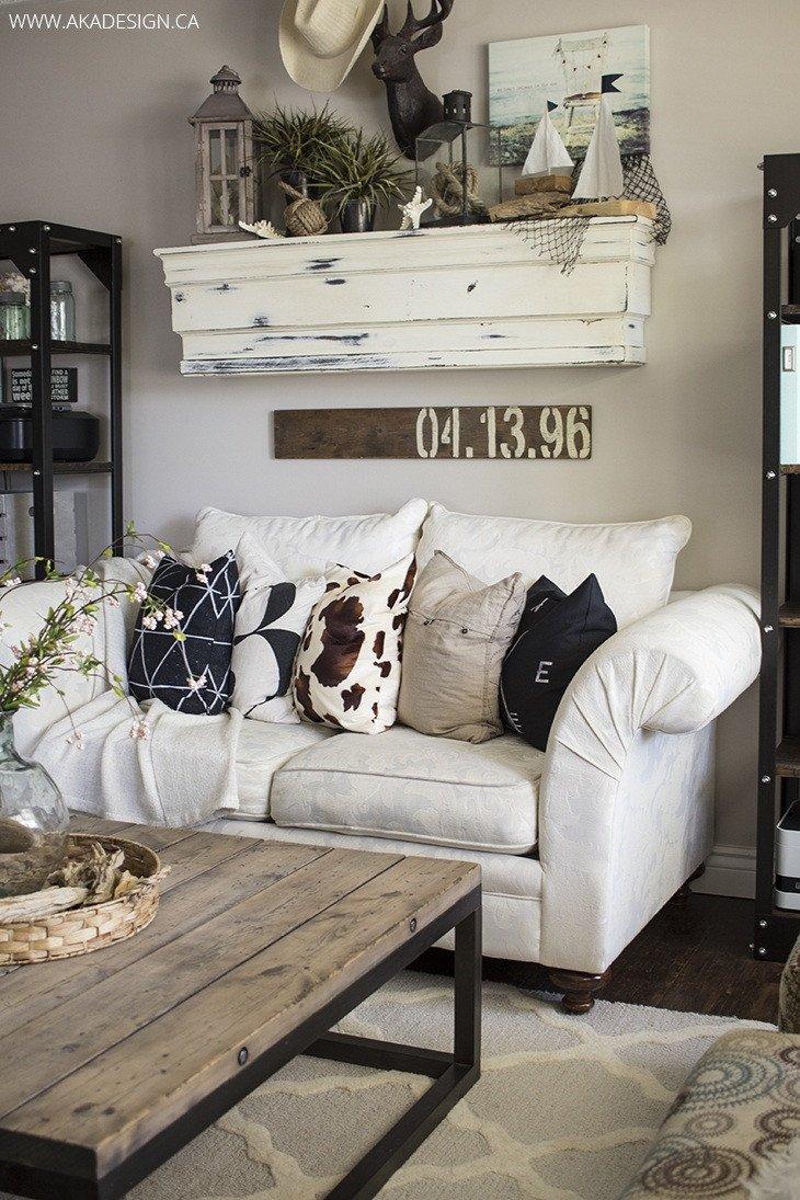 Living Room Wall Decor Ideas 27 Rustic Farmhouse Living Room Decor Ideas for Your Home