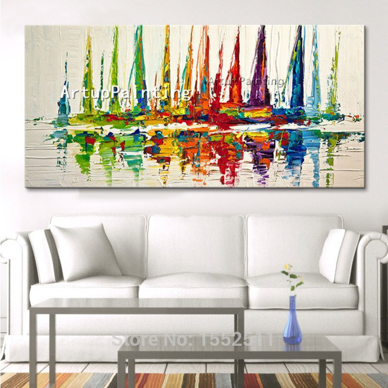 Living Room Wall Decor Pictures Aliexpress Buy Canvas Painting Huge Modern Hand