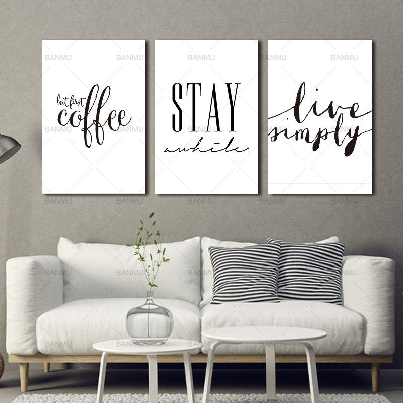 Living Room Wall Decor Pictures Canvas Painting Wall Art Inspiration Quote Canvas Art
