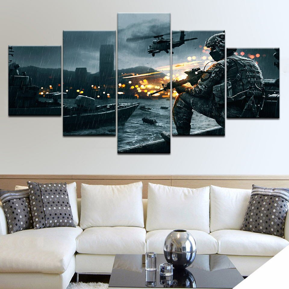 Living Room Wall Decor Pictures Living Room Framework Hd Home Printed 5 Panel