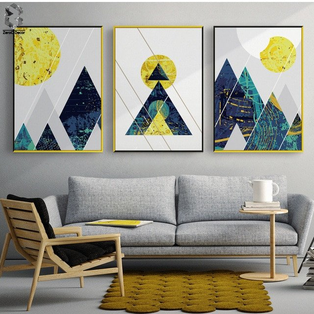 Living Room Wall Decor Pictures nordic Modern Posters and Prints Wall Art Canvas Painting