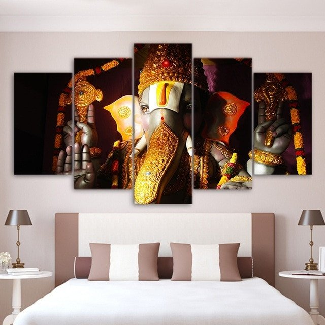 Living Room Wall Decor Pictures Wall Art Home Living Room Decor Ganesha Poster