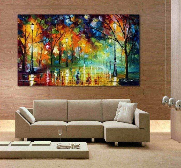 Living Room Wall Decor Pictures Wandbilder Wohnzimmer 50 Ideen Wie Sie