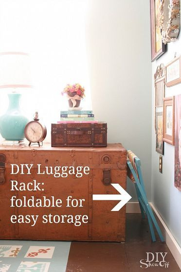 Luggage Rack for Bedroom Getting Guest Ready with A Diy Luggage Rack