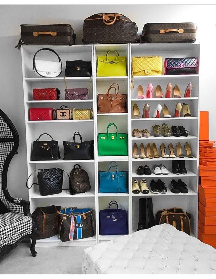Luggage Rack for Bedroom Shoes & Bag Display Set Up
