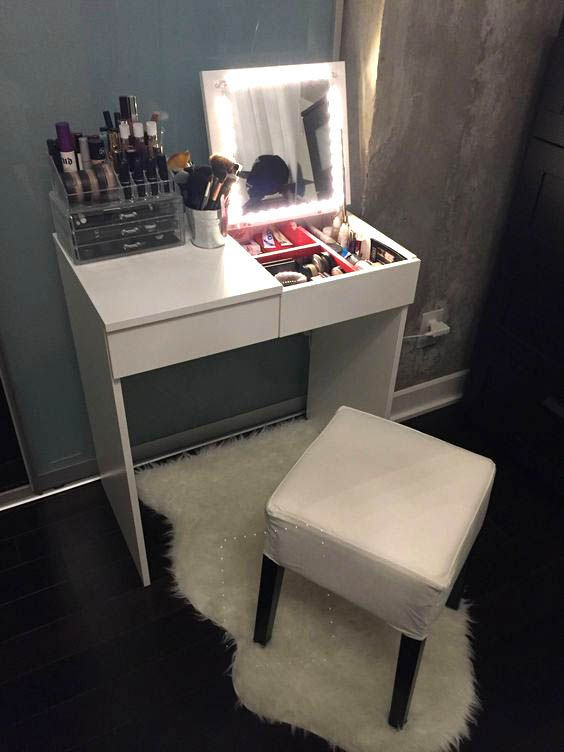 Make Up Vanity for Bedroom 15 Super Cool Vanity Ideas for Small Bedrooms