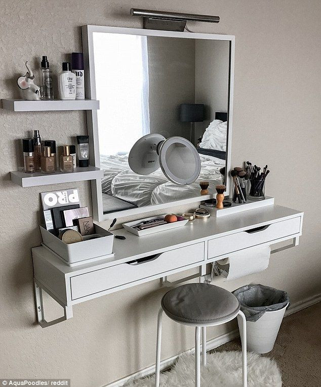 Make Up Vanity for Bedroom Instagram Worthy Ways to organize Your Make Up