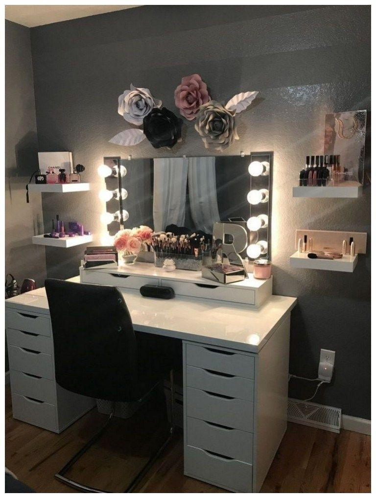 Make Up Vanity for Bedroom Pin On Room Ideas