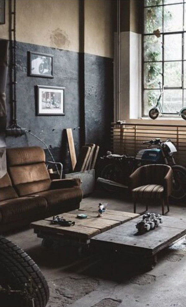 Man Cave Bedroom Ideas Industrial Man Cave Decor with Motorbike Ideas – Homemydesign