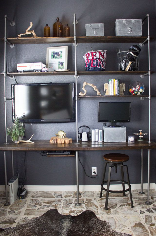 Man Cave Bedroom Ideas Vintage Industrial Inspired Man Cave Decor Ideas In 2020