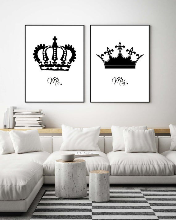 Master Bedroom Wall Art Bedroom Wall Art Set King and Queen Print Bedroom Set Mr and Mrs Wall Art Set Minimalist Bedroom Wall Art Master Bedroom Wall Art