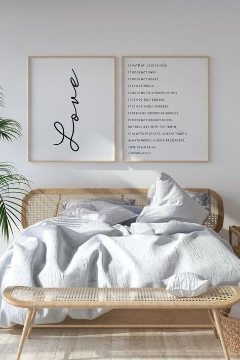 Master Bedroom Wall Art Love is Patient Love is Kind Master Bedroom Wall Art
