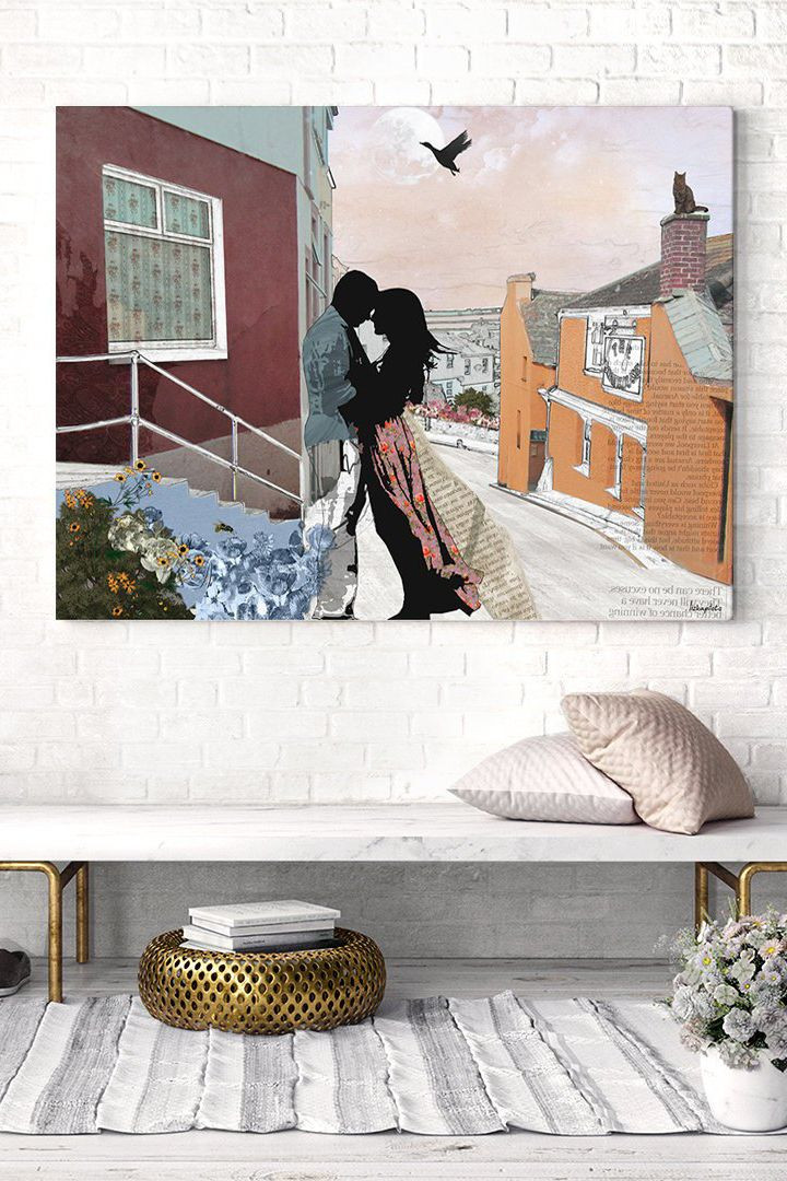 Master Bedroom Wall Art Romantic original Collage Art Poster Wall Decor Master