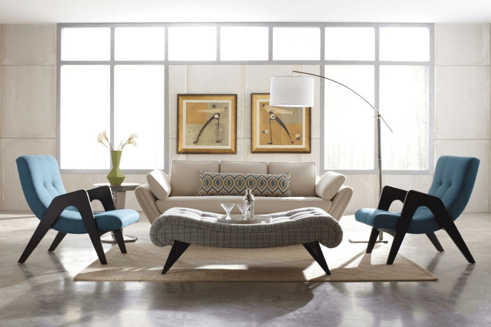 Mid Century Living Room Decor before & after Mid Century Modern Living Room Design