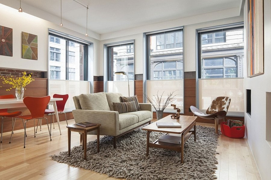 Mid Century Living Room Decor Old Fice Building In Boston Transformed Into A Grand