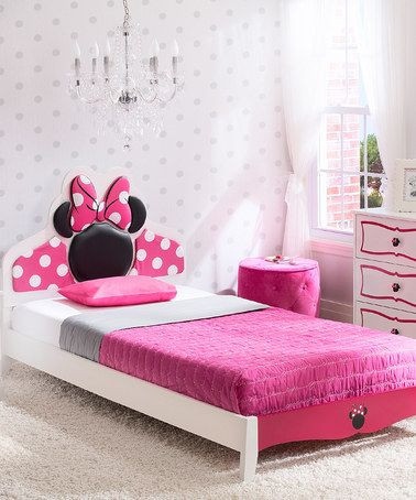 Minnie Mouse Bedroom Ideas Minnie Mouse Twin Bed Room In A Box Set Zulily Zulilyfinds