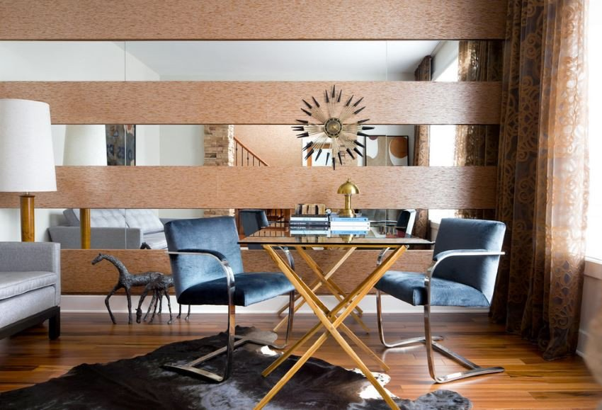 Mirrors Contemporary Living Room 10 Rooms with A Mirrored Wall