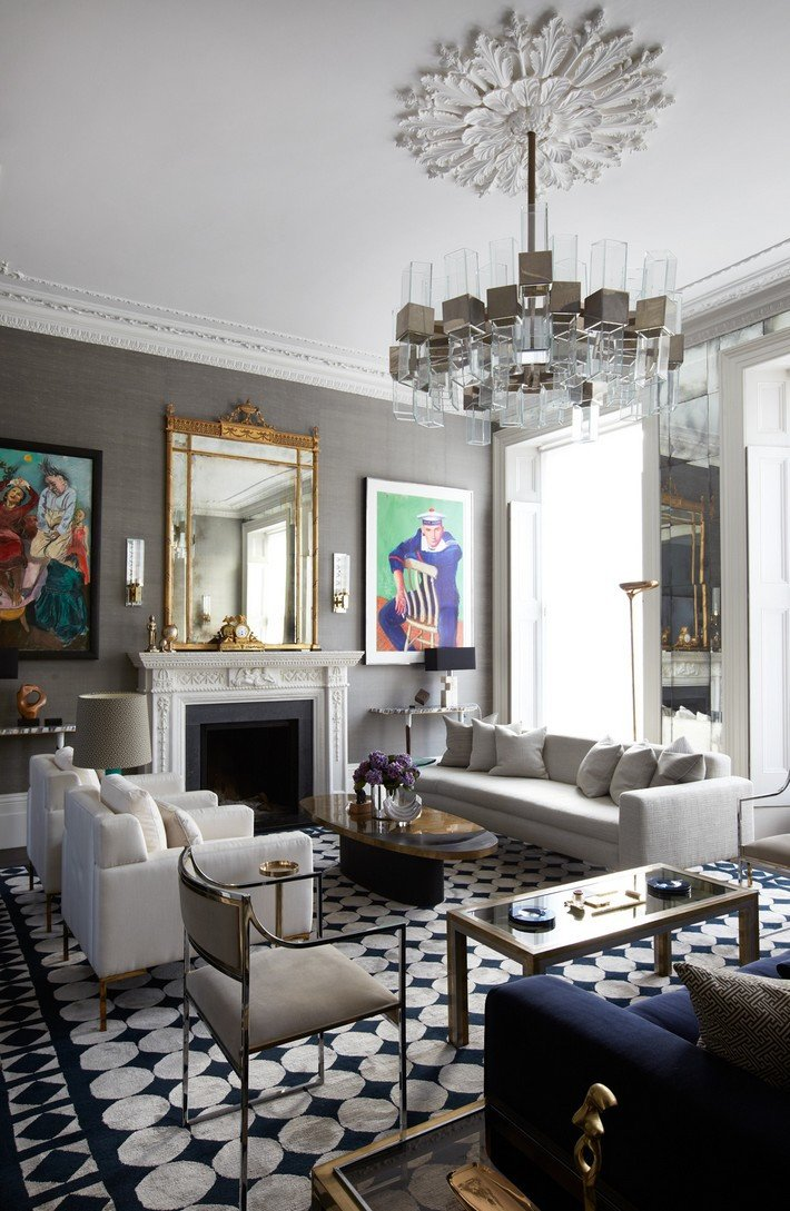 Mirrors Contemporary Living Room 15 Ways to Decorate with Gold Mirrors – Design Limited Edition