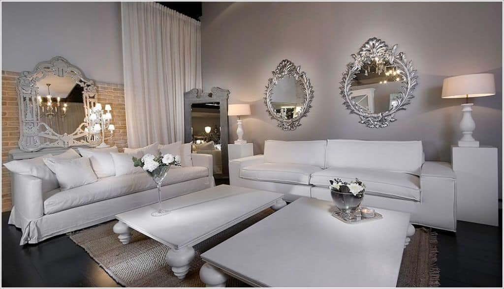Mirrors Contemporary Living Room Add An Ambiance with Living Room Mirror