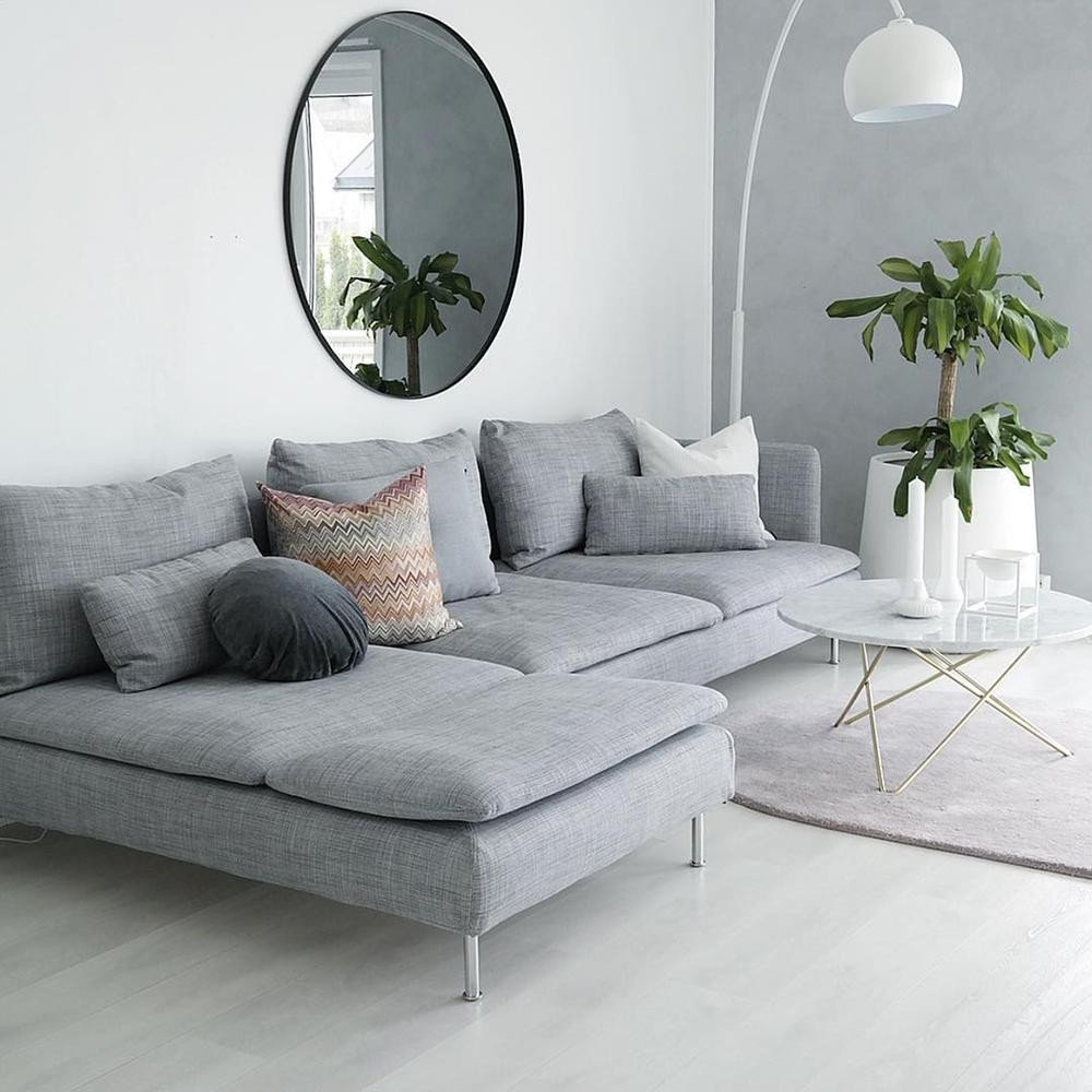 Mirrors Contemporary Living Room How to Use Living Room Wall Mirrors the Right Way