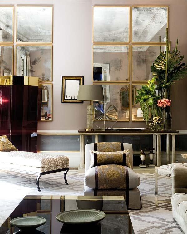 Mirrors Contemporary Living Room Posición De Espejos Envejecidos ¡salones top Nuevo