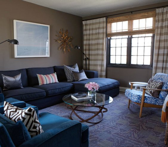 Modern Blue Living Room Decorating Ideas Feeling the Blues