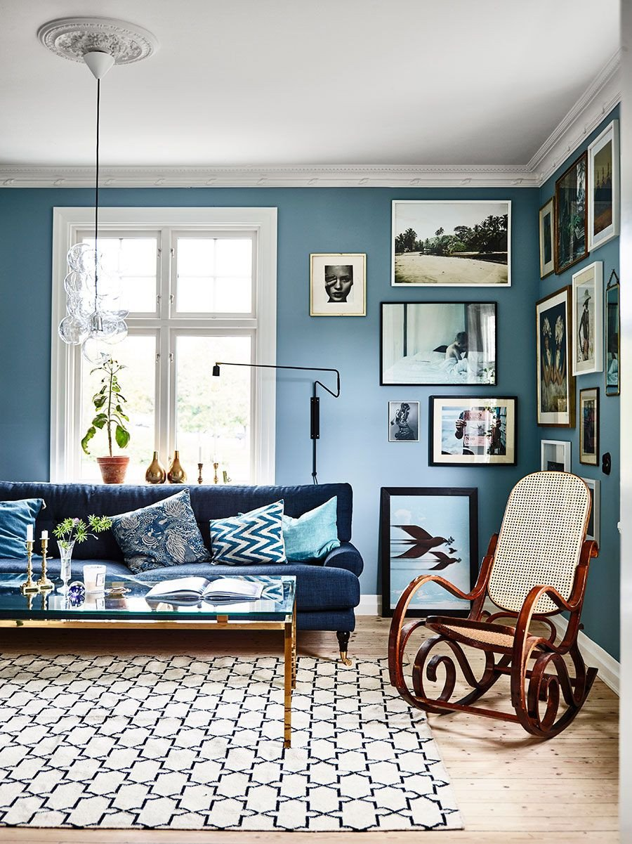 Modern Blue Living Room Decorating Ideas Inspiring Interiors