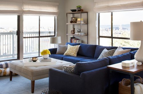 Modern Blue Living Room Decorating Ideas is the Blue Velvet On the sofa Mitchhell Gold Bob
