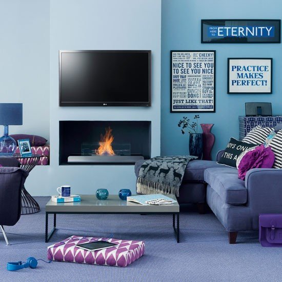 Modern Blue Living Room Decorating Ideas Modern Blue Living Room
