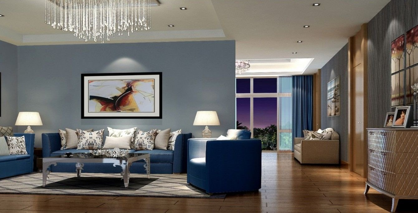 Modern Blue Living Room Decorating Ideas Modern Living Room with Blue sofa Home Decor