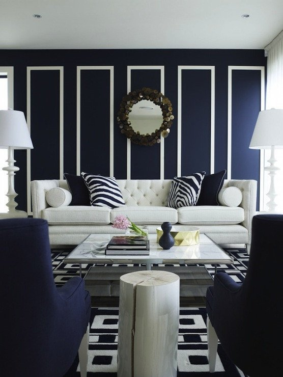 Modern Blue Living Room Decorating Ideas Navy Blue Living Room Decorating Ideas