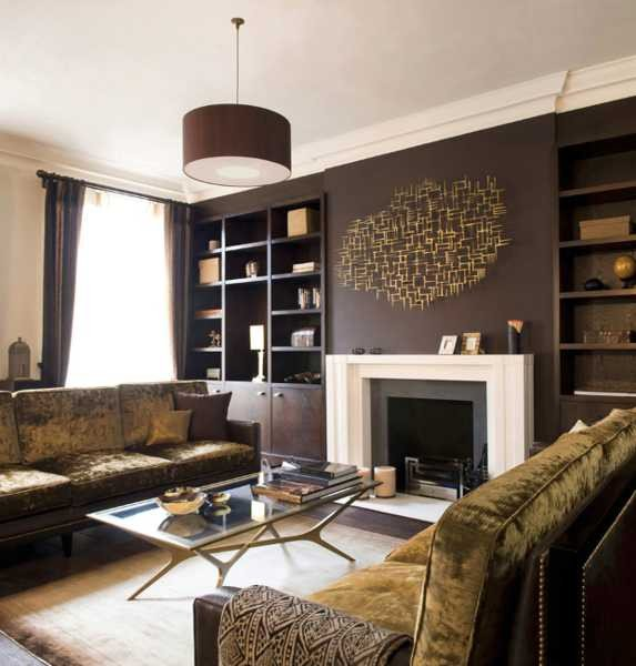 Modern Brown Living Room Decorating Ideas Chocolate Brown Interior Colors and fortable Interior
