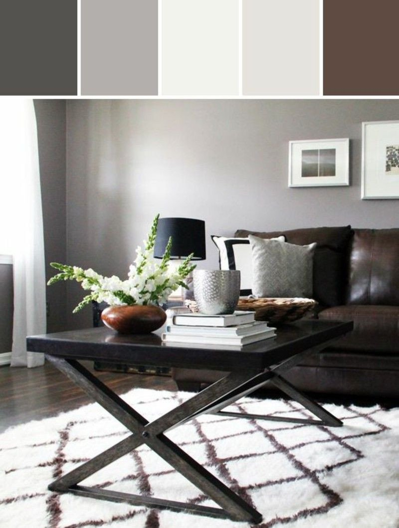 Modern Brown Living Room Decorating Ideas What Colours Fit to Her Wall Colors Bine