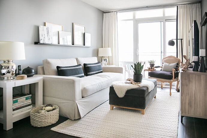 Modern Condo Living Room Decorating Ideas A toronto Condo Packed with Stylish Small Space solutions