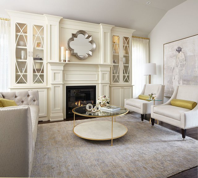 Modern Contemporary Living Room Decorating Ideas Modern Neutral Living Room with Gold Accents