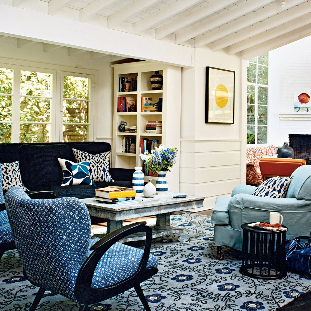 Modern Cottage Living Room Decorating Ideas Modern Cottage Decor Colorful Cozy Spaces Coastal Living