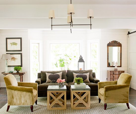 Modern Country Decor Living Room 2013 Country Living Room Decorating Ideas From Bhg