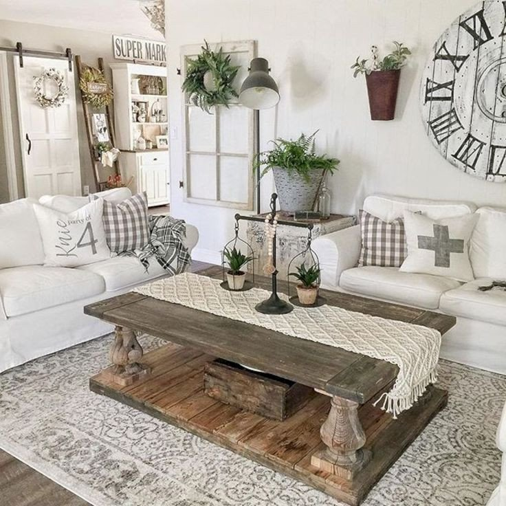 Modern Farmhouse Living Room Decor Home Decorating Ideas Farmhouse Stunning 65 Modern