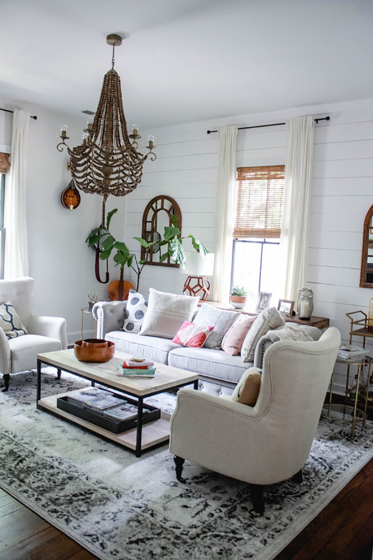 modern farmhouse living room home decor style swap