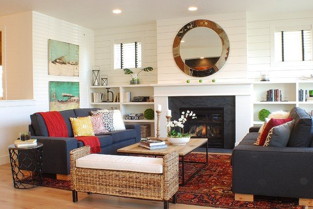 Modern Farmhouse Living room farmhouse living room boise