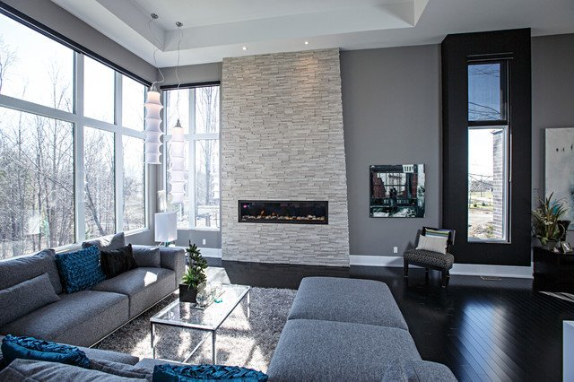 Modern Grey Living Room Decorating Ideas Contemporary Living Room In Grey tones Contemporary