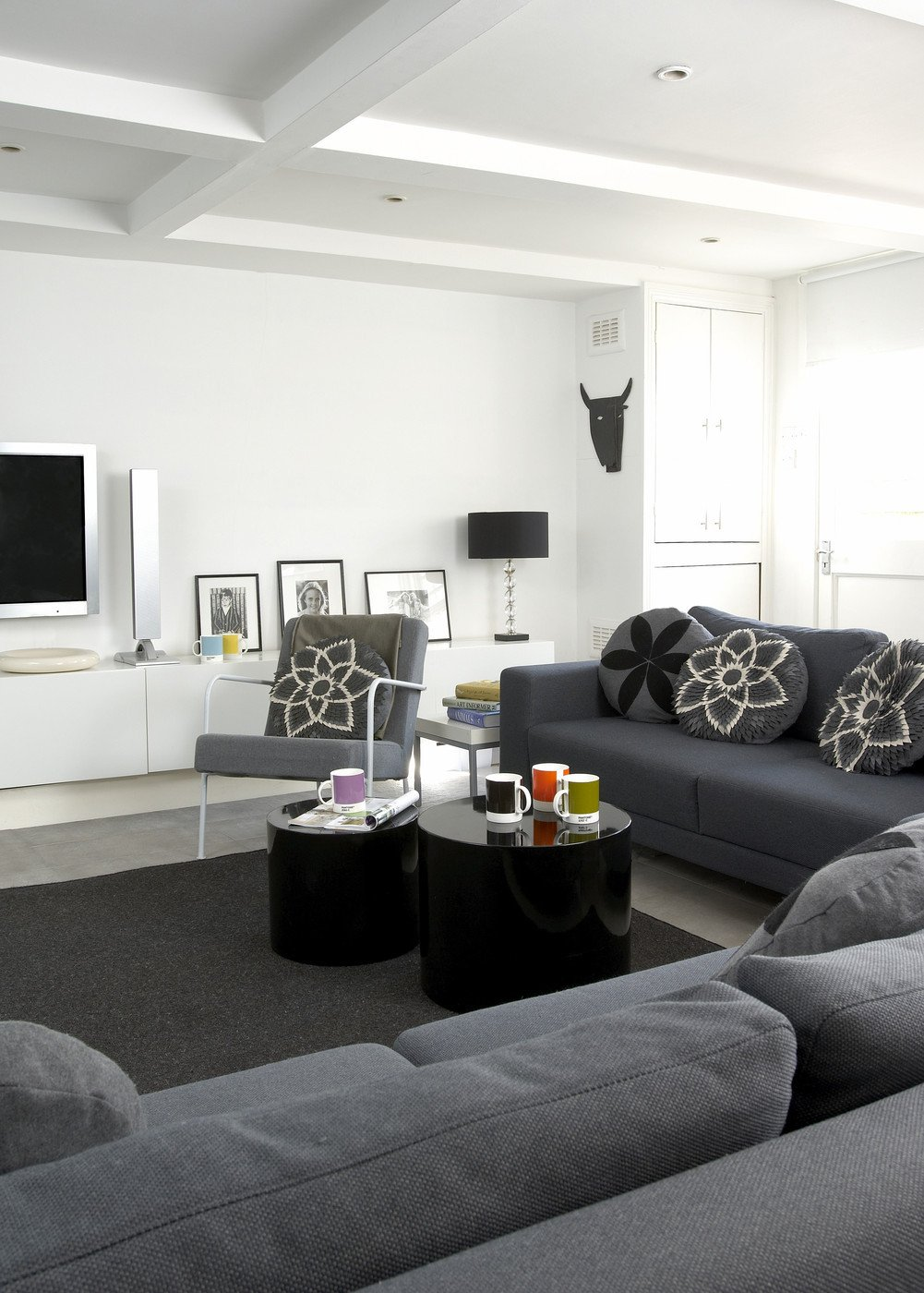 Modern Grey Living Room Decorating Ideas Gray Contemporary Modern Family Room Living Room Design