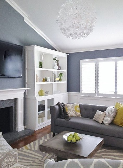 Modern Grey Living Room Decorating Ideas Grey and Green Living Contemporary Living Room San